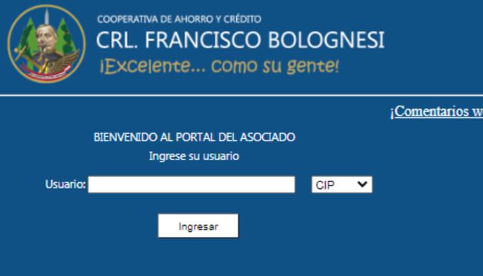 Consultar estado de cuenta cooperativa Bolognesi