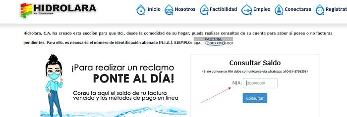Estado de Cuenta Hidrolara web